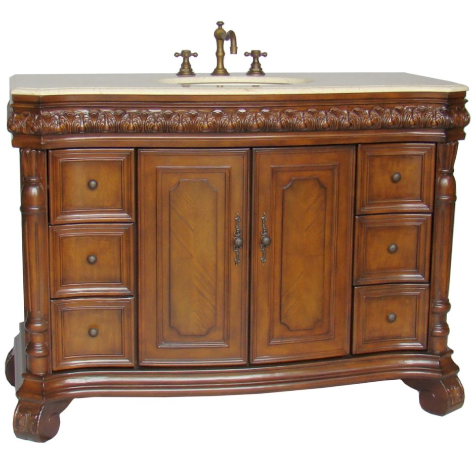 48 inch avenel bathroom sink vanity for Bathroom 48 inch vanity