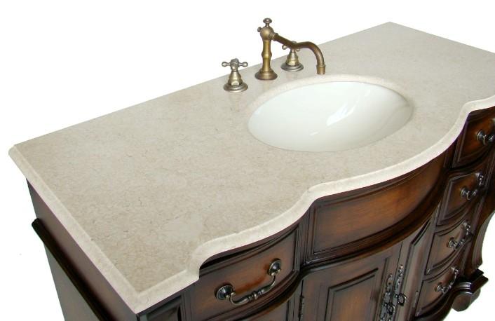 50 Inch Ohio Vanity Bathroom Vanity Sale Single Sink Vanity