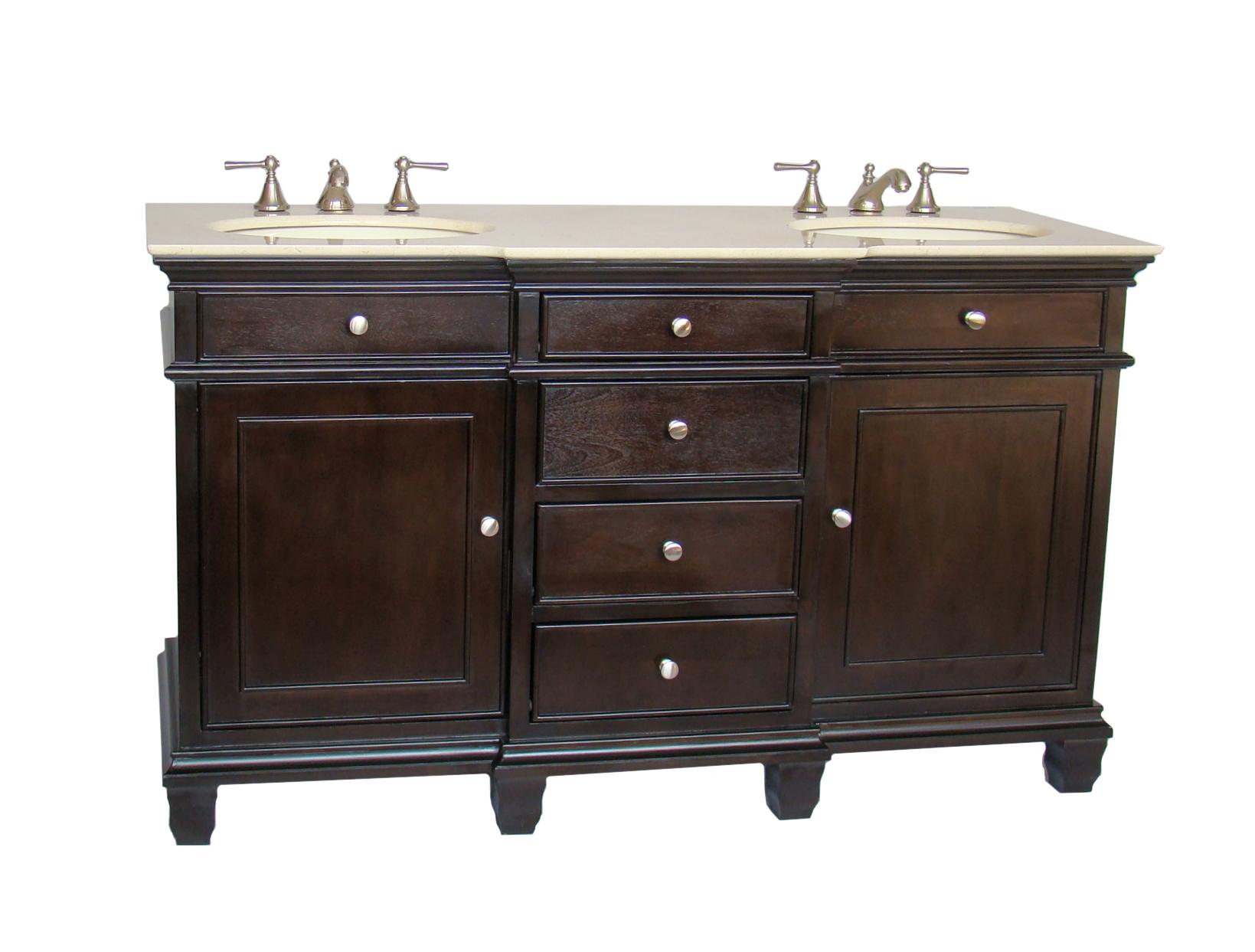 60 69 Inch Vanities Double Bathroom Vanities Double