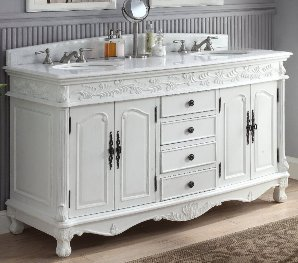 60 double sink vanity. 62  Aida Double Sink Vanity Crystal White Marble Top Sinks 60 69 Inch Vanities Bathroom