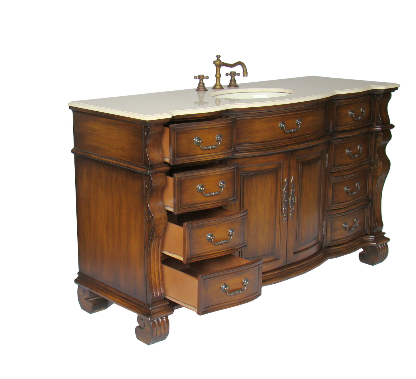60 Inch Ohio Vanity Bathroom Vanity Sale Single Sink Vanity