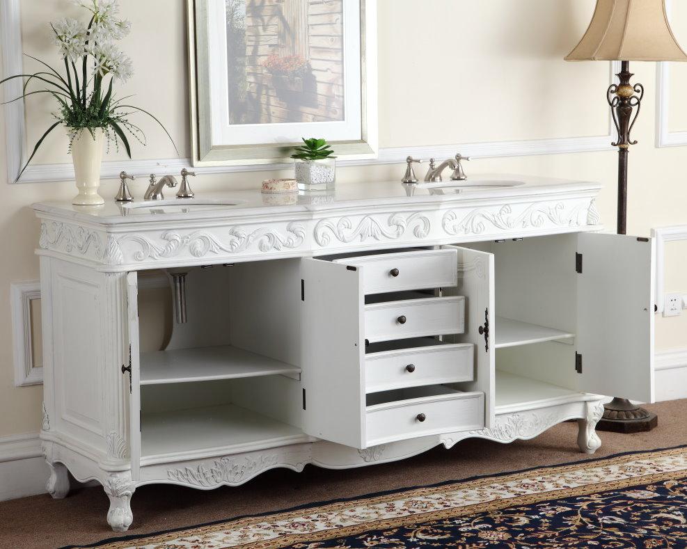 72 inch and over vanities double sink vanities for Bathroom cabinets 72 inches