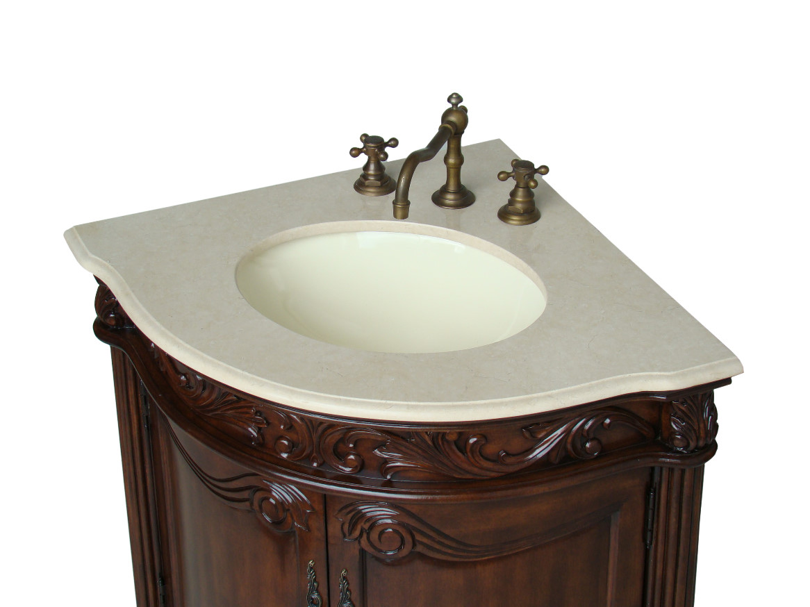 Bathroom corner sink