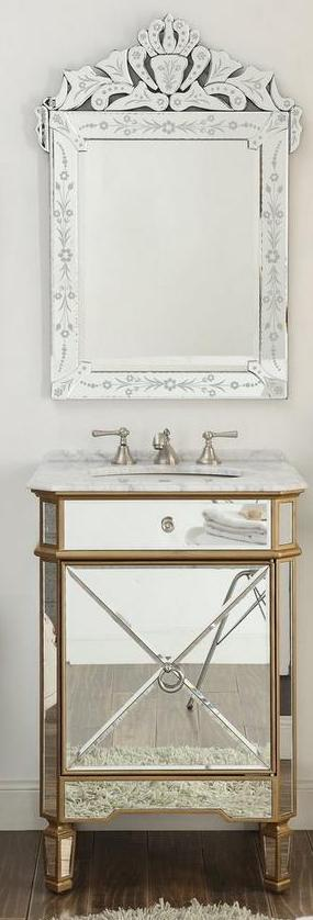 Mirrored Sink Vanity Mirrored Bathroom Vanity Mirrored Bathroom Cabinet