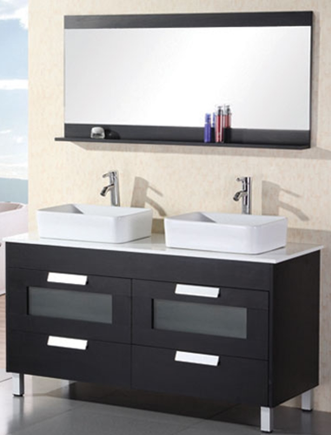50 To 59 Inch Vanities Makeup Sink Vanity Large Sink Vanity