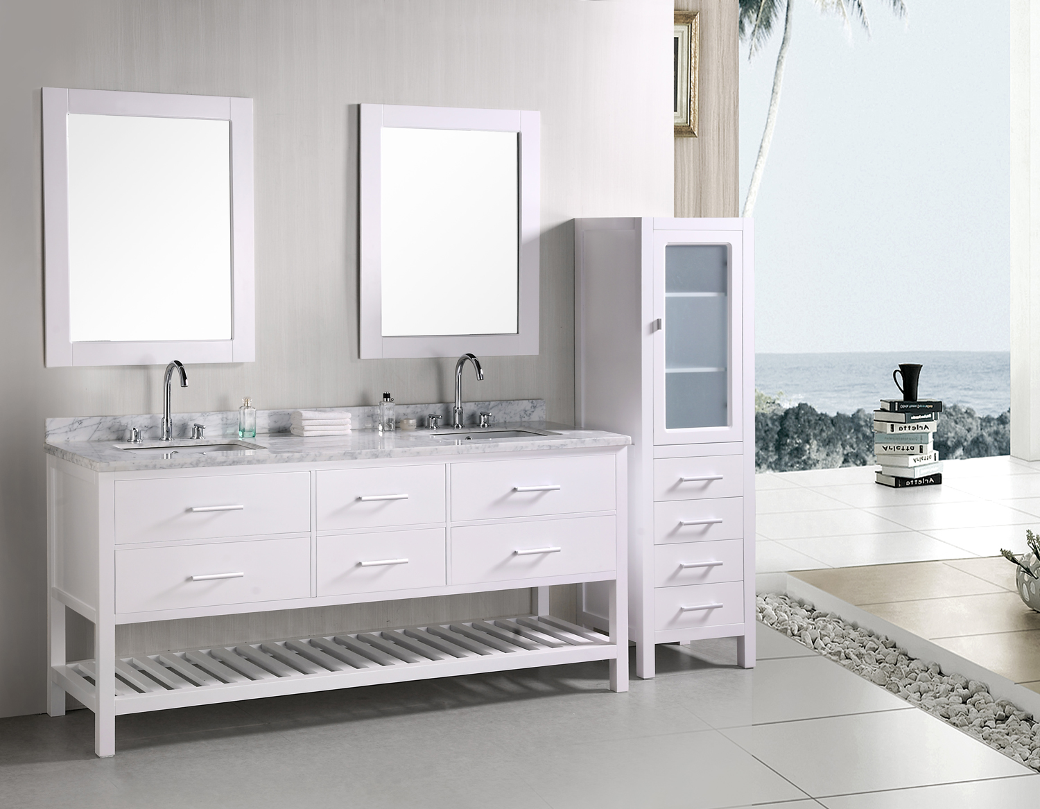 72inch brixton vanity brixton console vanity console for Bathroom toilet and sink set