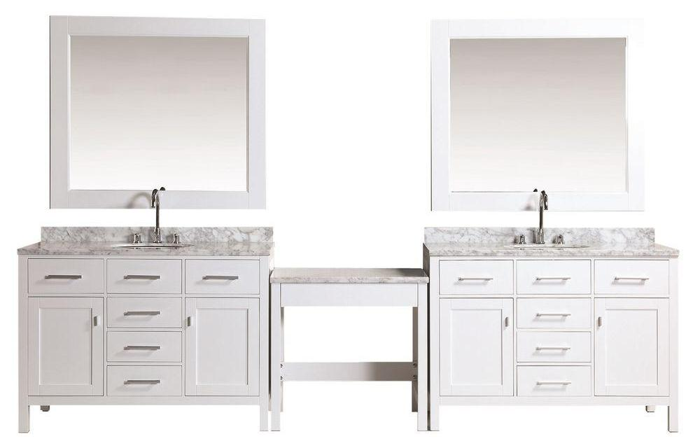 Gorgeous 30 Double Bathroom Vanities With Makeup Area Decorating Design Of Best 20 Bath