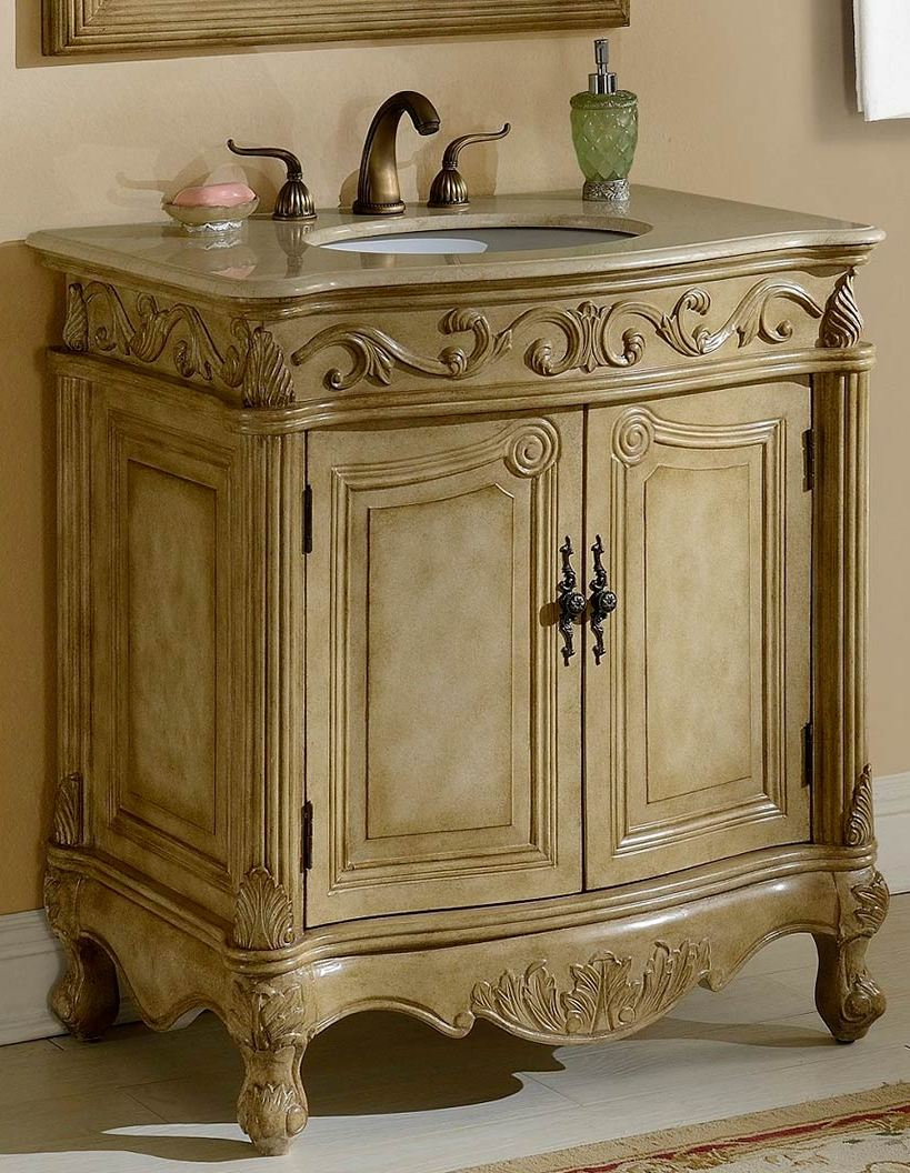 32inch Mia Vanity Country French Style Vanity French Style Bathroom