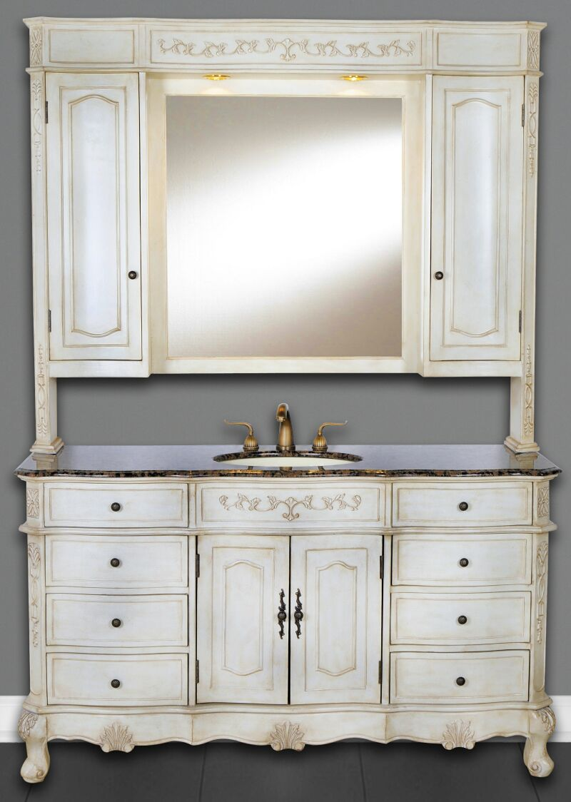 60 Inch Cortina Vanity Single Sink Vanity Vanity With Hutch