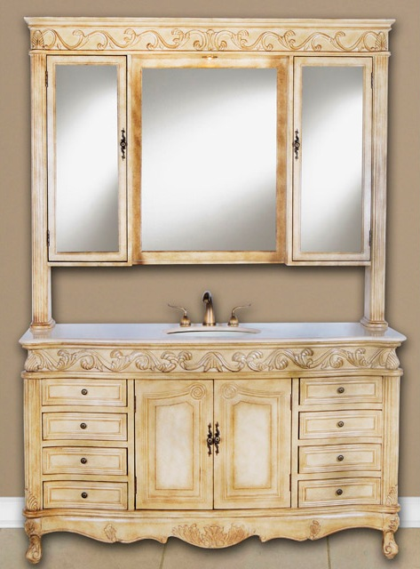 60 Inch Welsh Vanity Single Sink Vanity Vanity With Hutch