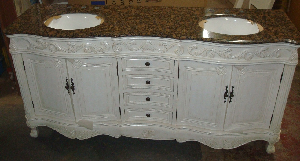 Wonderful Clintonville Ohio Bathroom Project Vanity With Half Wall Shelf And