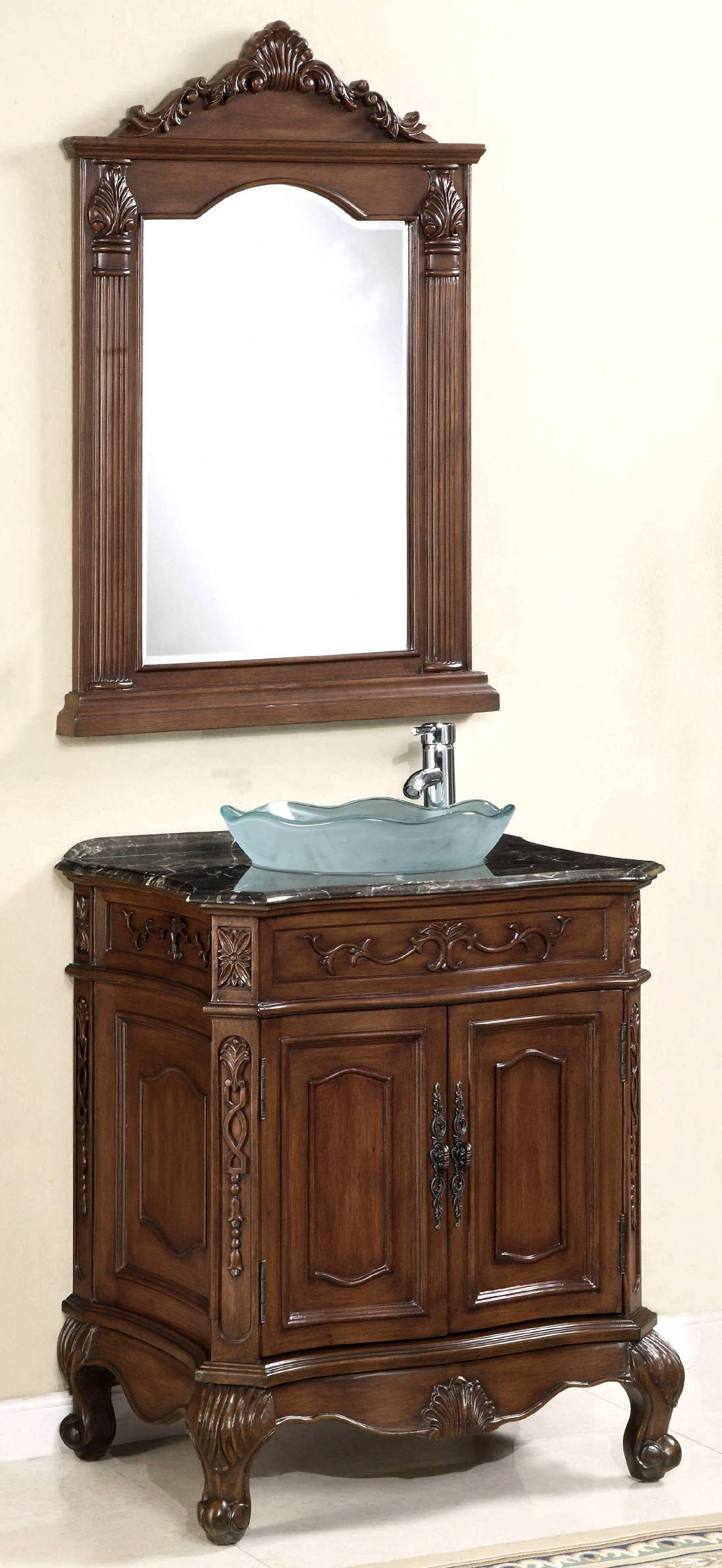 . 29 inch Vanity Set   Vanity with Mirror   Vessel Sink Vanity