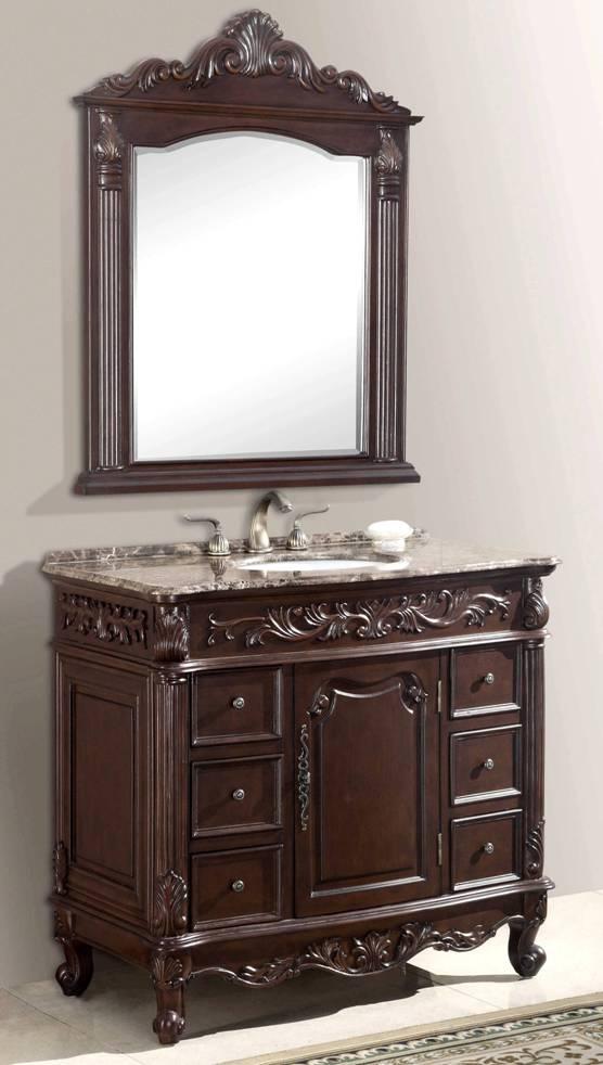 40in molson vanity sink vanity chest vanity with mirror for Second hand bathroom fixtures