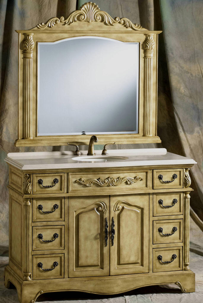 50 To 59 Inch Vanities Makeup Sink Vanity Large Sink