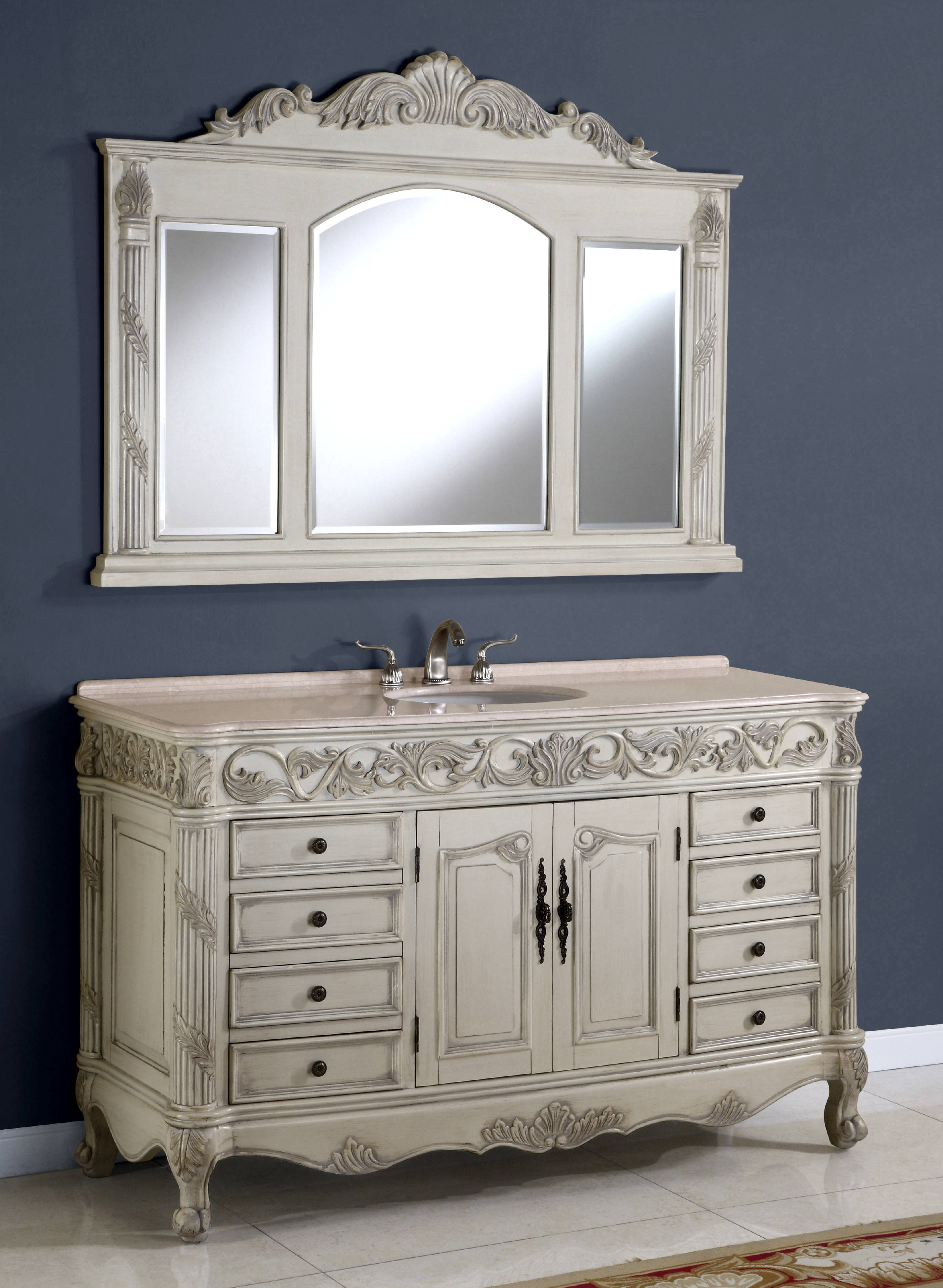 60 Inch Regent Vanity Single Sink Vanity Vanity With
