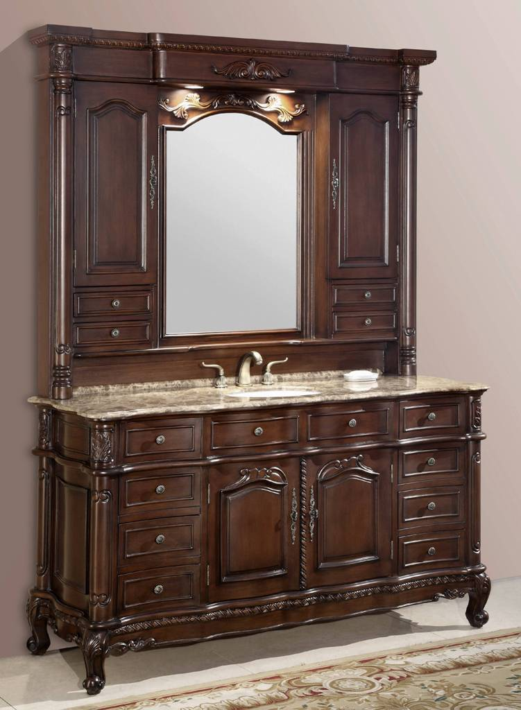 64 Inch Catrina Vanity Single Sink Vanity Vanity With