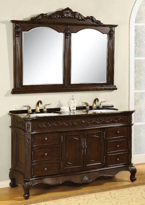 60 Inch Arley Vanity Matching Set Mirror Emperador