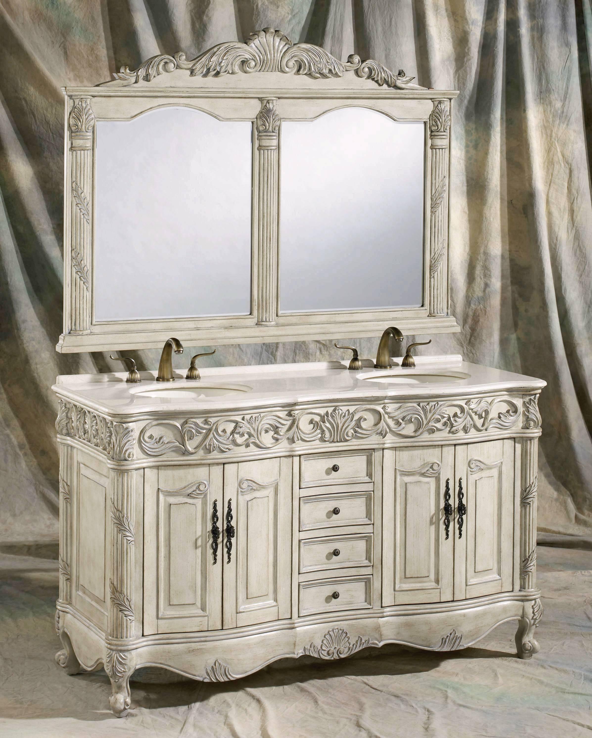 60 Inch Omaha Vanity Double Sink Vanity Vanity With Mirror