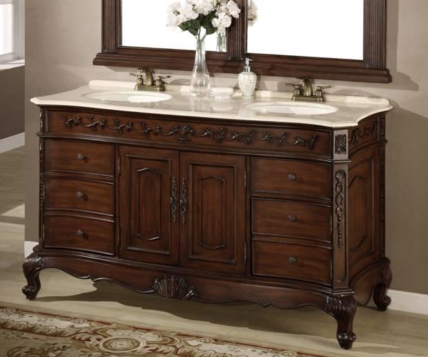 62 Inch Denver Vanity Matching Set, 62 Inch Double Sink Bathroom Vanity Set