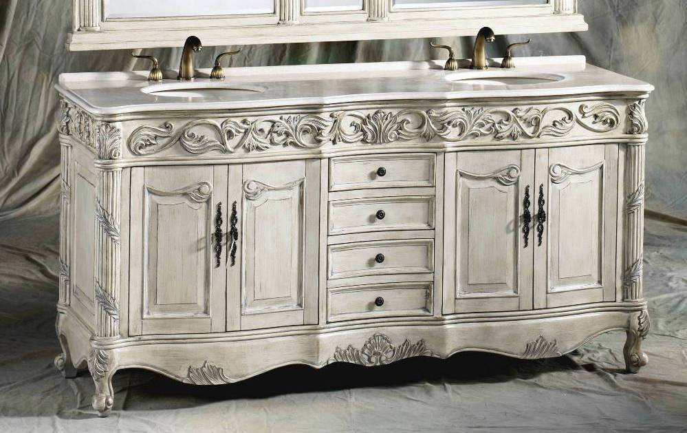 72 Inch Carolina Vanity Double Sink Vanity Antique White Vanity