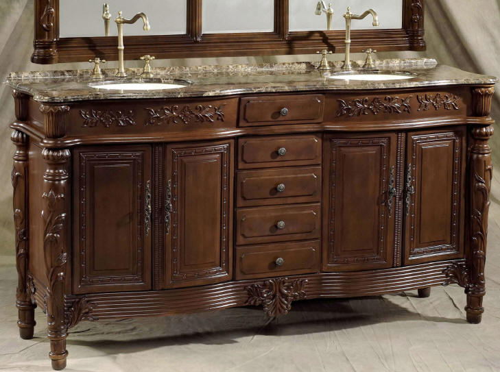 73 inch Christy Vanity | Double Bathroom Vanity Cabinets