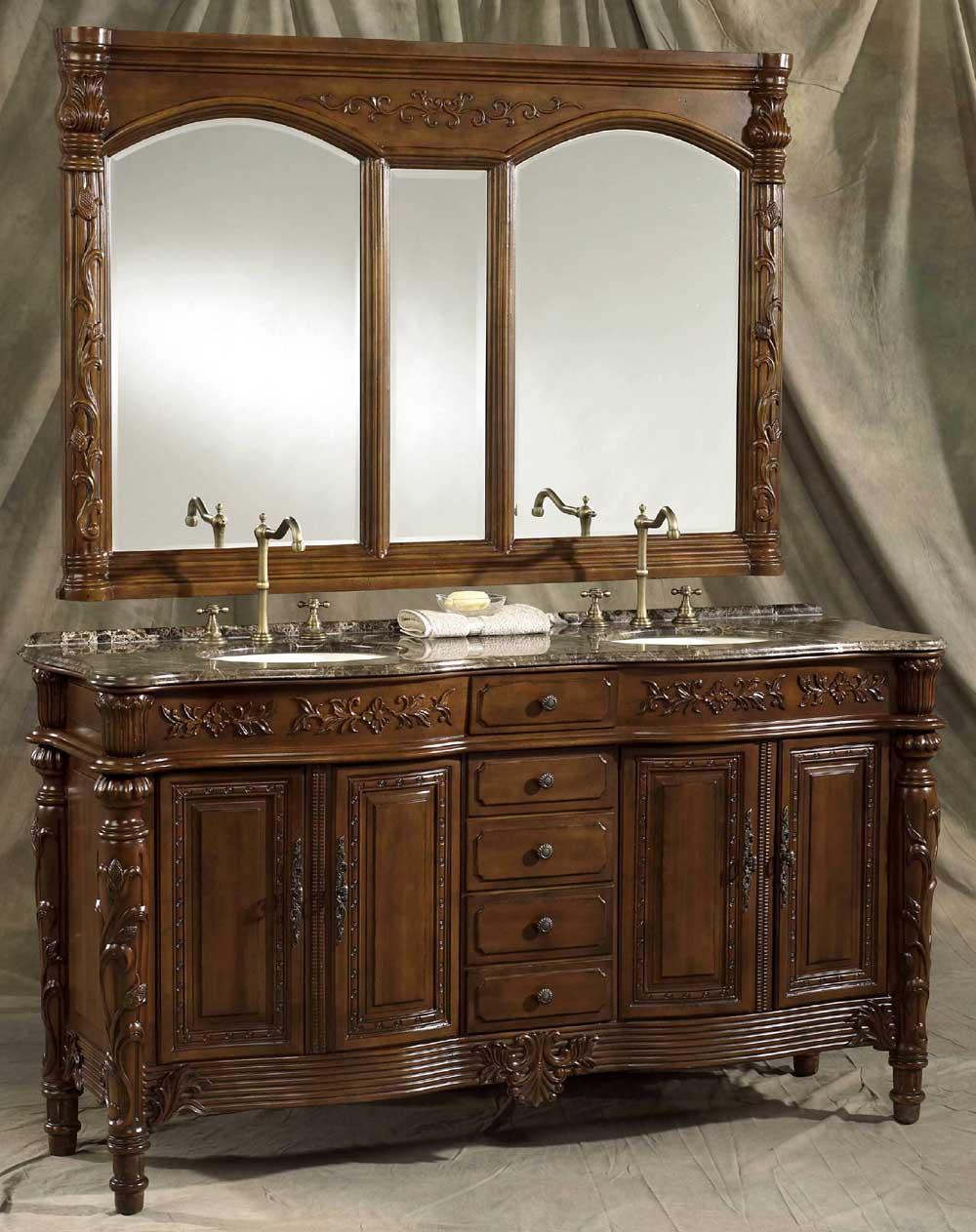 ... 73 Inch Christy Vanity Double Bathroom Vanity Cabinets ...