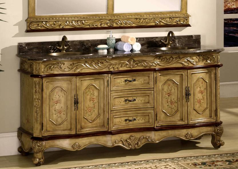 73 Inch Midland Vanity Old World Vanity Charming Bathroom Vanity