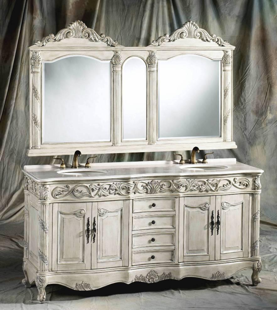 72 Inch Ferrari Vanity Double Sink Vanity Antique