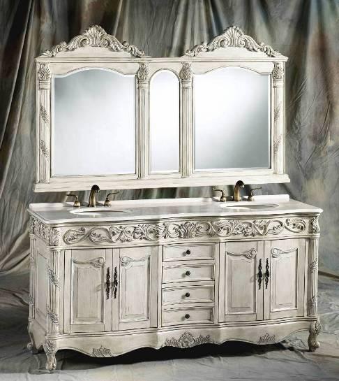 72 inch ferrari vanity double sink vanity antique - Antique white double sink bathroom vanities ...