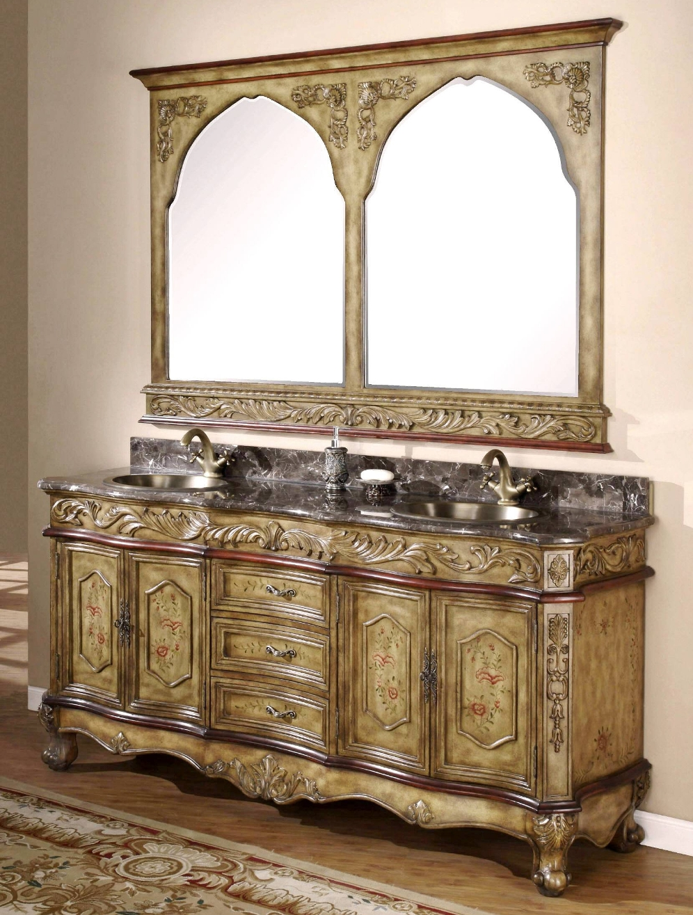 Castille Old World Fashion Bathroom Vanity All Door Hardware Is Included Faucets Sold Separate See Faucet Selections Below