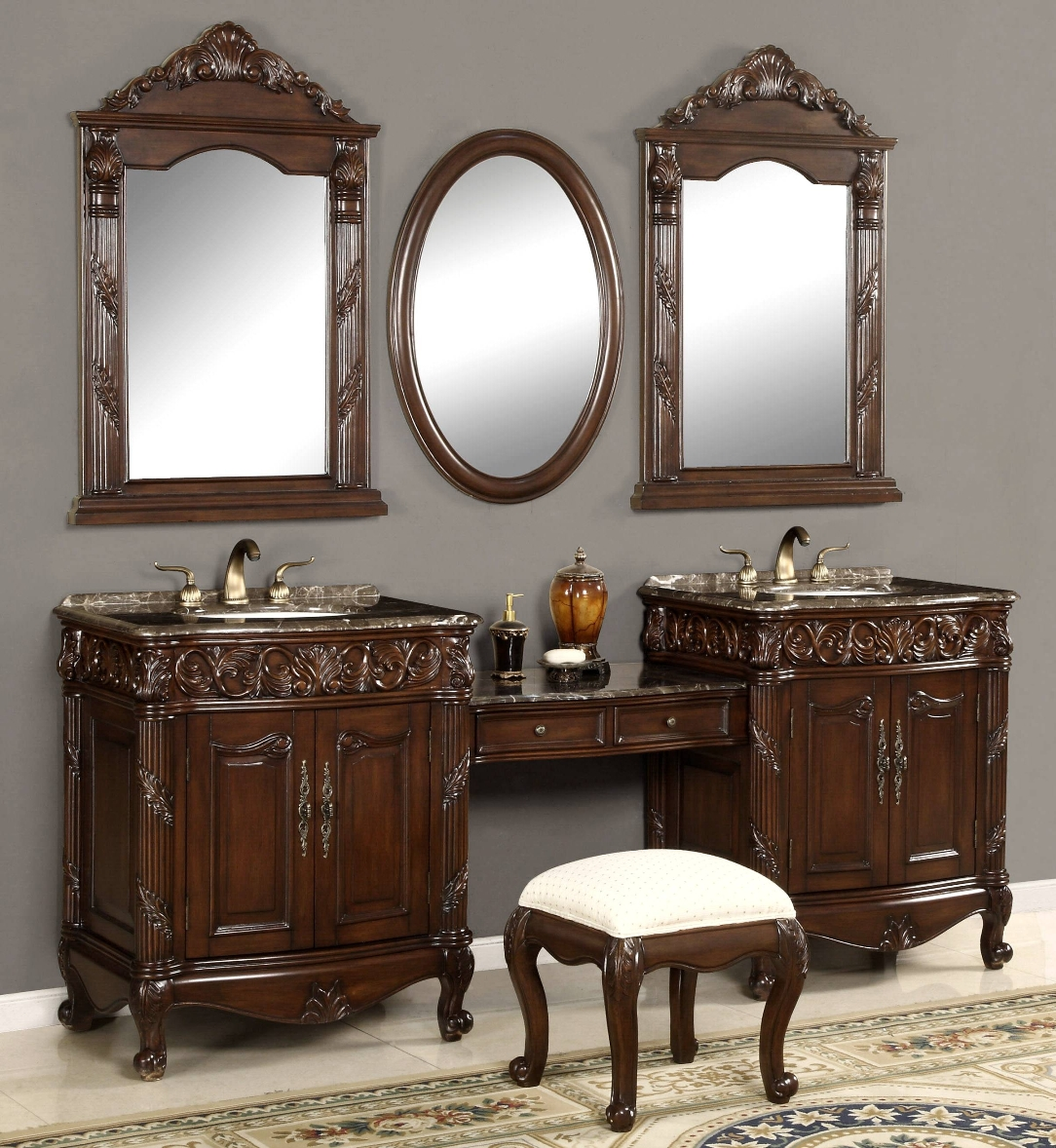 Bathroom Vanity With Makeup