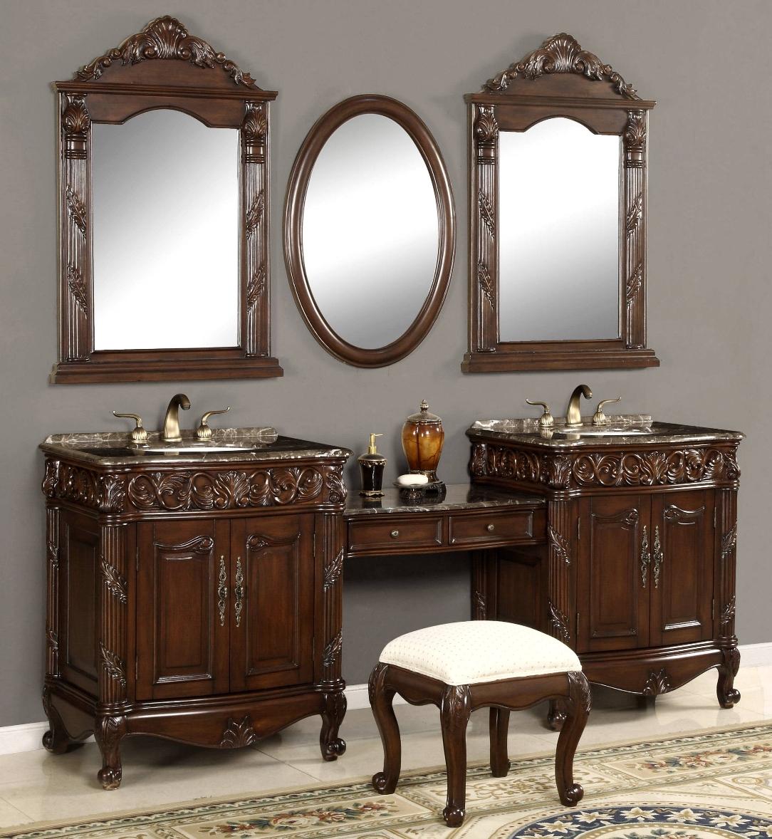 87-inch double vanities | vanity make-up stool