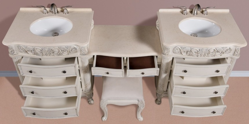 87 Inch Double Vanities Vanity Make Up Stool