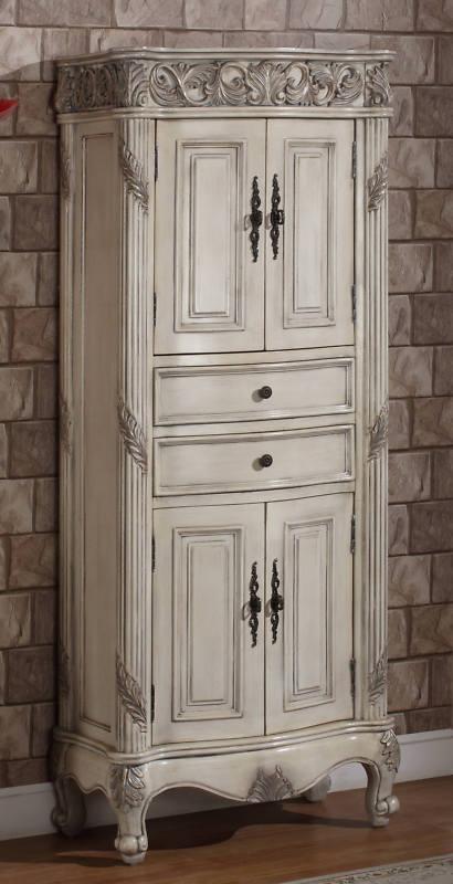 72 inch ferrari vanity double sink vanity antique white vanity - Antique bathroom linen cabinets ideas ...