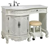 bathroom sink vanity combo. 48  Rosewood Vanity Ships with Matching Set Make up Stool Optional Wall Mirror Discontinued W x 21 D 35 H Bathroom Sink Cabinet Ivory Finish Makeup Tables