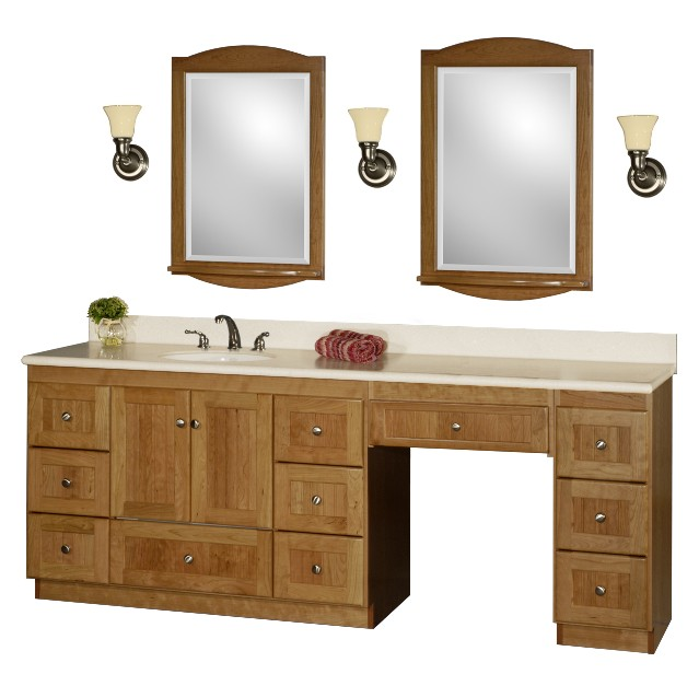 New Bathroom Vanities With Makeup Area Bathroom Ideas