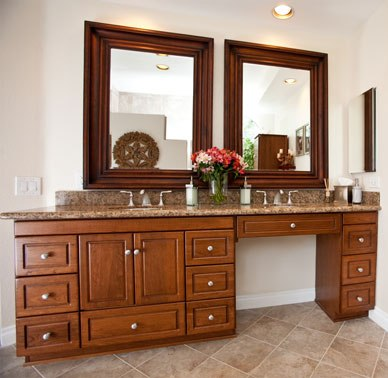 New Mariana Bathroom Sink Vanity Models With Knee Drawer Makeup Table Dressing Area Shown Above