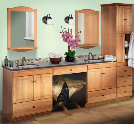 78in Makeup Sink Vanity Custom Makeup Vanity Solid Wood Bathroom Cabinets