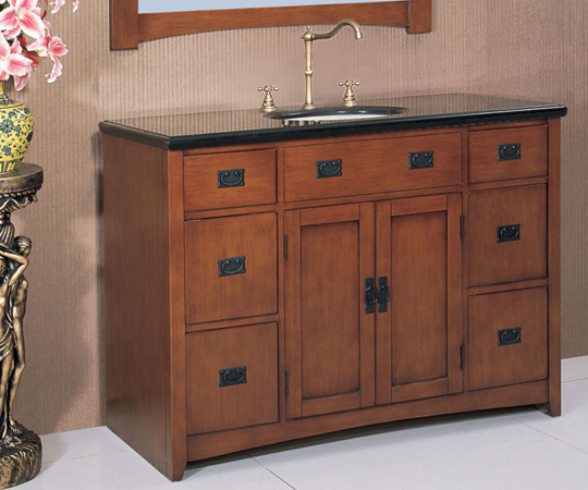 . 48 inch Mission Vanity   Mission sink vanity   Mission Bath Furniture