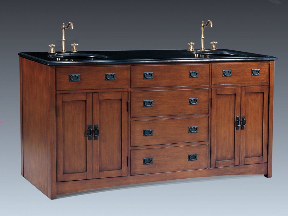 72 inch mission vanity mission style vanity mission for Bathroom 72 double vanity
