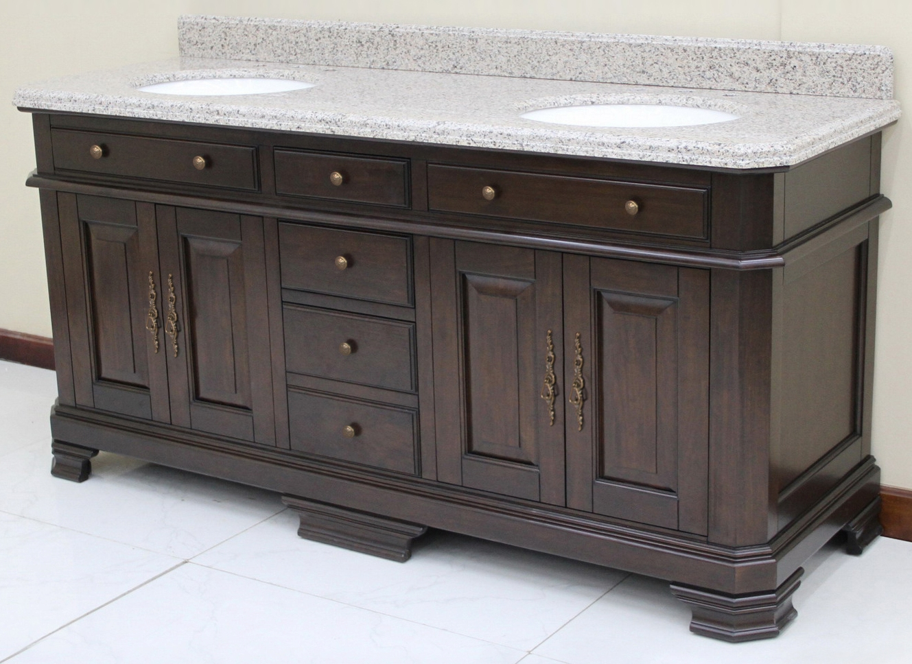 72 inch and over vanities double sink vanities for Bathroom 72 inch vanity
