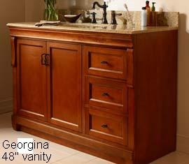 60 Inches Georgina Vanity Solid Wood Vanity Hardwood Vanity Construction