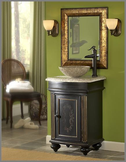 Vessel Sink Bathroom Vanities 24in gabriel vanity | vessel sink vanity | ebony bathroom vanity