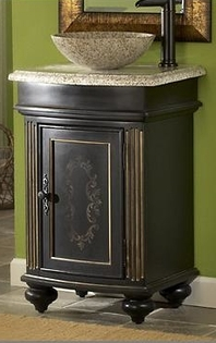 24in gabriel vanity vessel sink vanity ebony bathroom vanity for Bathroom vanities less than 24 inches wide
