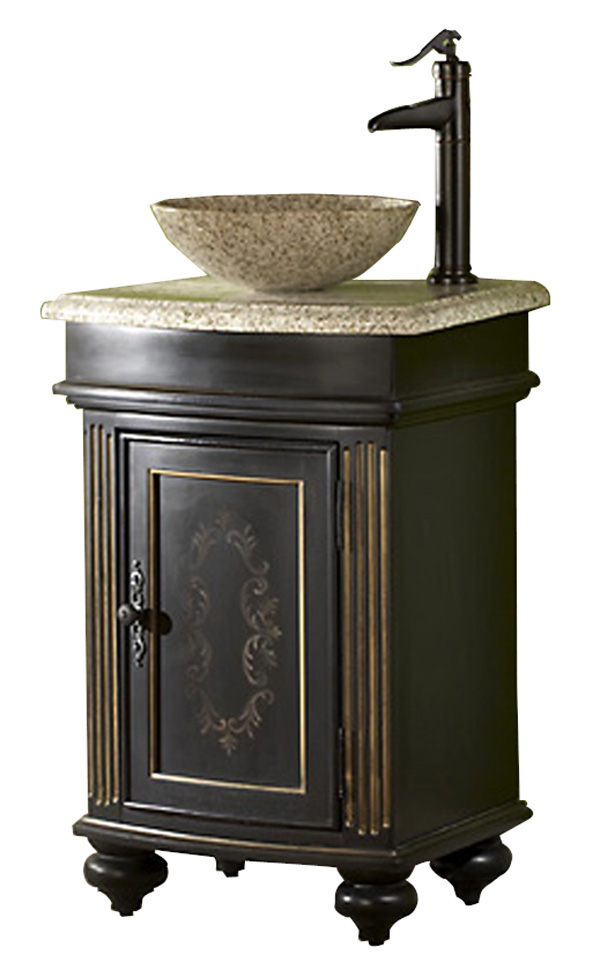 24in Gabriel Vanity Vessel Sink Vanity Ebony Bathroom Vanity
