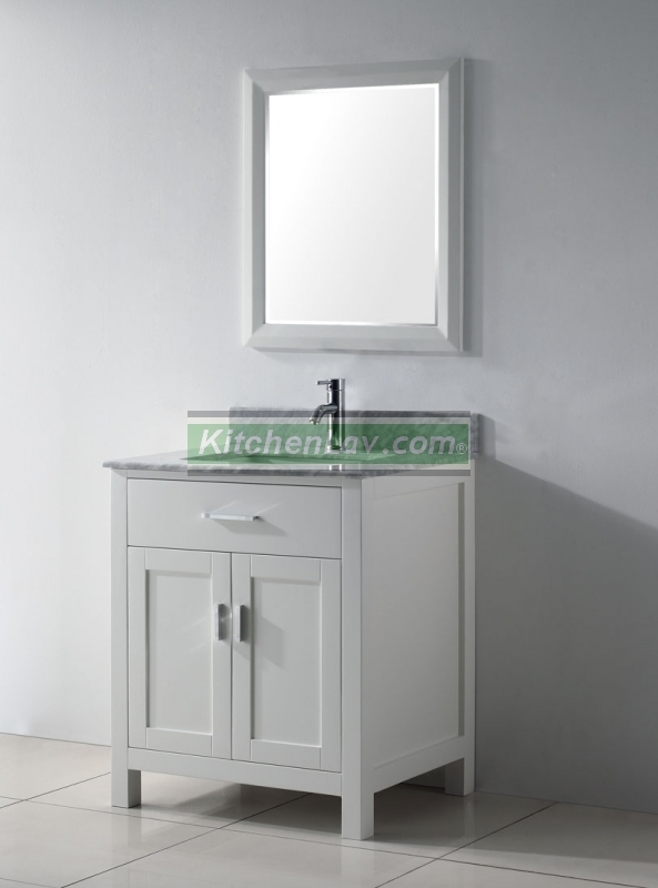 30 Inch Asta Vanity White Sink Vanity Espresso Sink Vanity