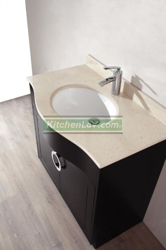 Brilliant  USA Caroline Parkway 36inch Grey Single Bathroom Vanity Cabinet Set