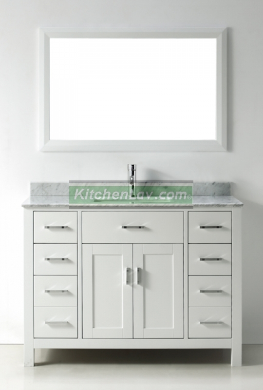 48 vanity with sink.  48 Inch Asta Vanity White Sink Espresso
