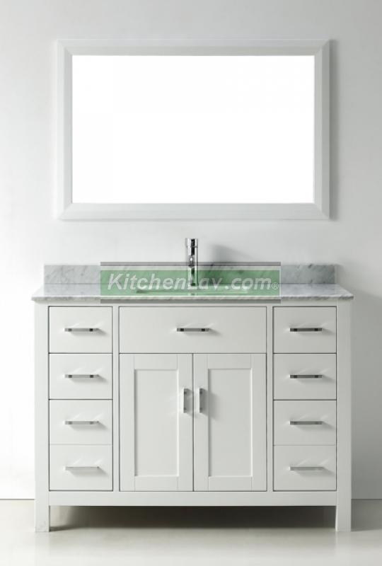 . 48 Inch Asta Vanity   White Sink Vanity   Espresso Sink Vanity