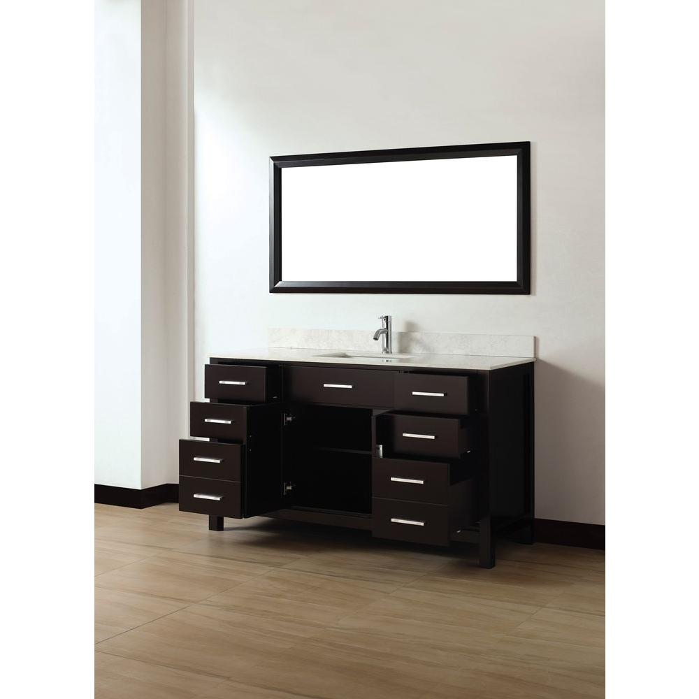 60 inch asta vanity white sink vanity espresso sink vanity gray sink vanity 22 inch wide bathroom vanity with sink